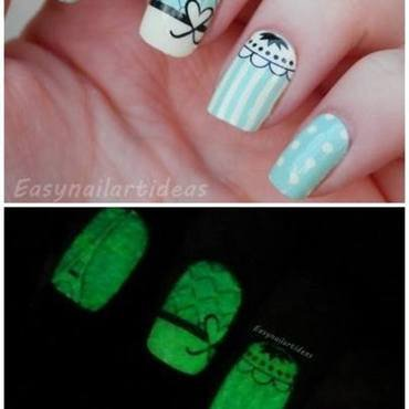 From Paris With Love nail art by Easynailartideas