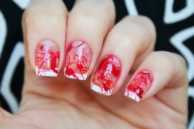 Prom gone wrong (bloody nails) nail art by Jane - Nailpolis: Museum ...