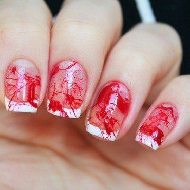 Prom gone wrong (bloody nails) nail art by Jane