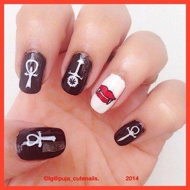 Halloween nails nail art by Puja Malhotra
