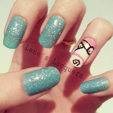 It's so fluffy I think I',m gonna die! nail art by Rebecca