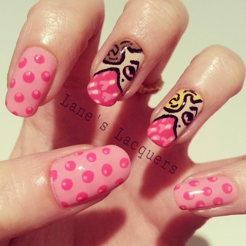 Emilio Ramos Wear it Pink Manicure nail art by Rebecca