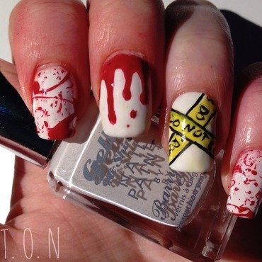 Dexter... nail art by Tipped Off Nails