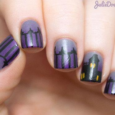Haunted House Nail Art nail art by Julie