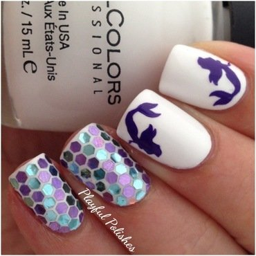 Mermaid Nails nail art by Playful Polishes