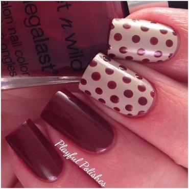 Polka Dot Nail Art nail art by Playful Polishes