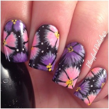 Flower Nails nail art by Playful Polishes