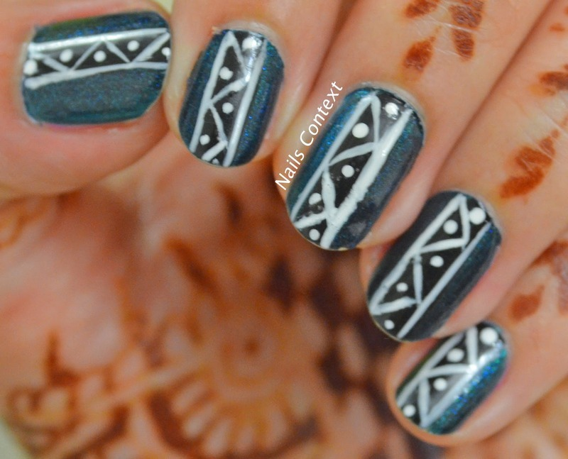 Tribal Nail Art nail art by NailsContext