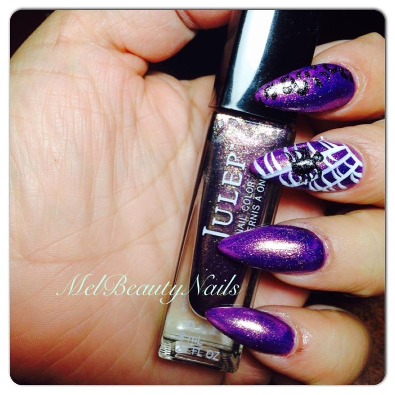 halloween nail art by mel