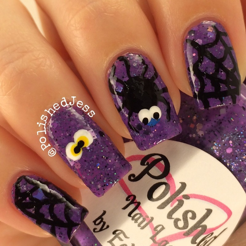 Spooky nail art by PolishedJess