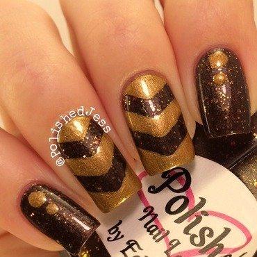 Fall Chevrons nail art by PolishedJess