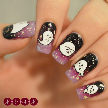 Boo-tiful nail art by Becca (nyanails)