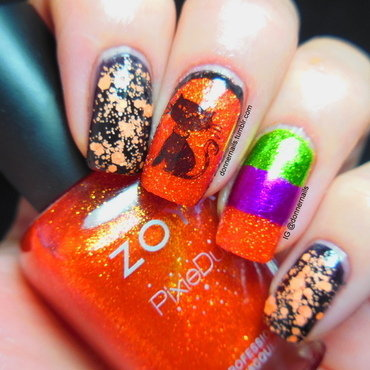 Halloween nail art by Donner