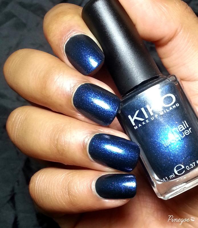 Kiko 522 Pearly Sapphire Blue Swatch By Pinezoe