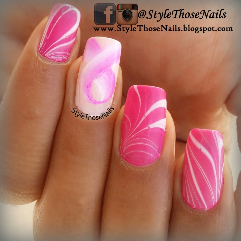Pink Ribbon Nails Breast Cancer Awareness mani nail art by Anita ...