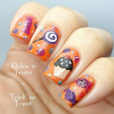 Halloween sweets nail art by MissPhibes