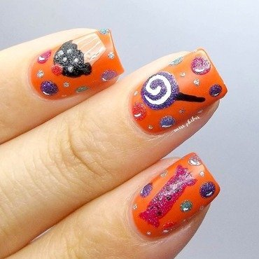 Halloween sweets II nail art by MissPhibes