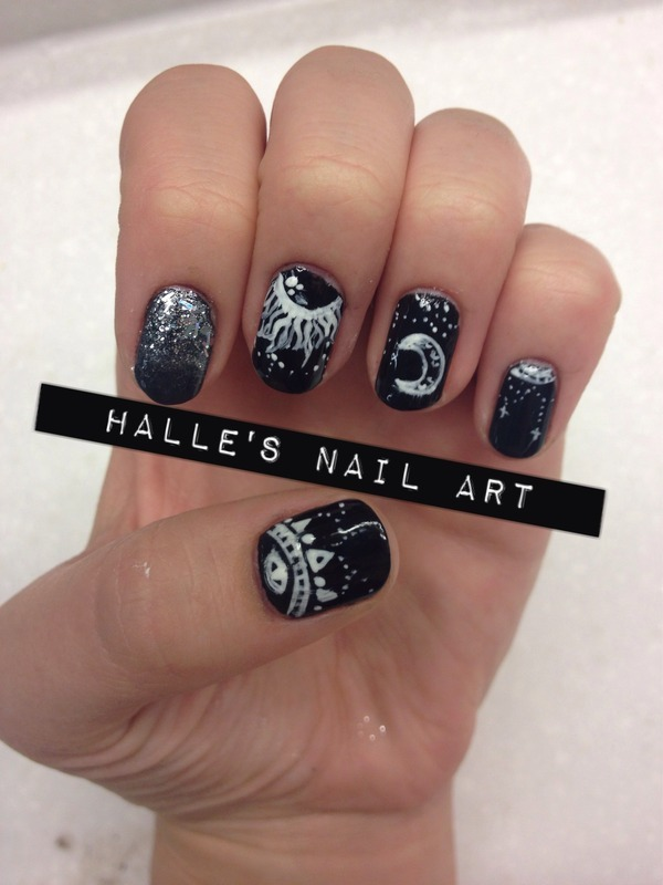 Mystic nail art by Halle Butler