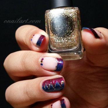 Glam and Chic Circus Nails nail art by OnailArt