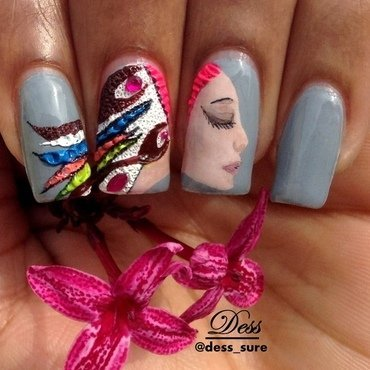 A colorful mind nail art by Dess_sure