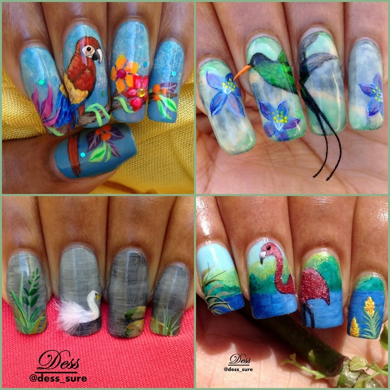 Birds nail art by Dess_sure