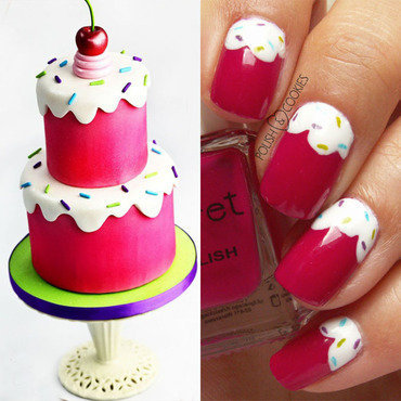 INSPIRED BY A CAKE - PART 10 nail art by PolishCookie