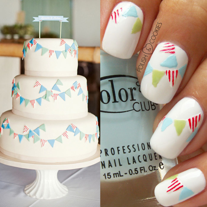 INSPIRED BY A CAKE - PART 12 nail art by PolishCookie