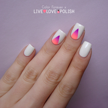 Gradient triangle nail art nail art by ania
