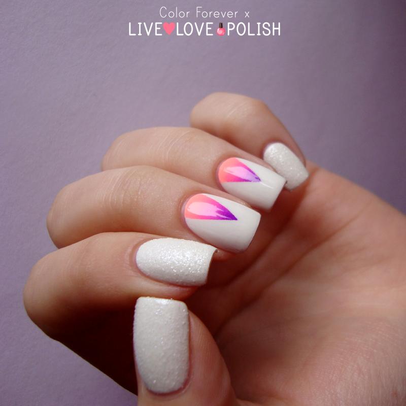 Gradient triangle nail art & sugar - Gradient Triangle Nail Art & Sugar Nail Art By Ania - Nailpolis