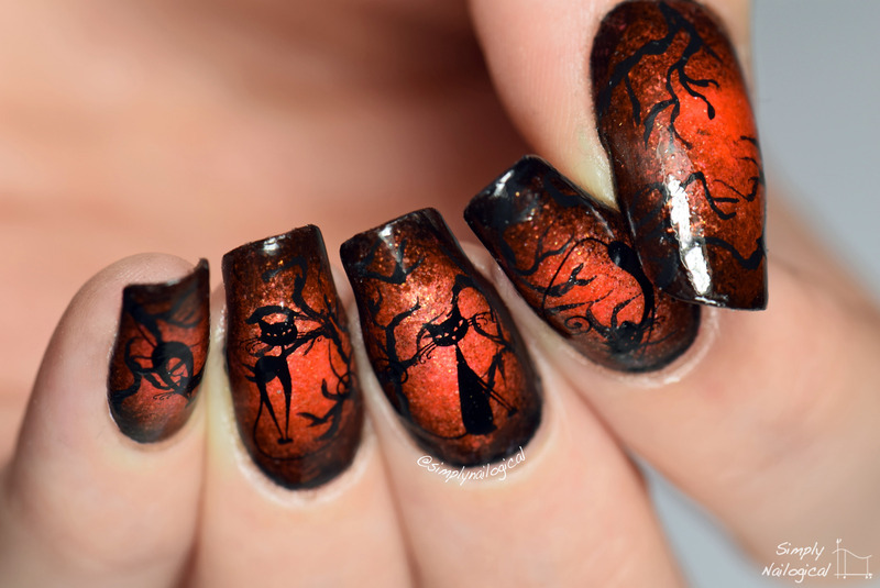 Glowing halloween kitties nail art by simplynailogical ...