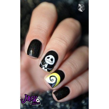 Jack Skellington nails nail art by Paulina
