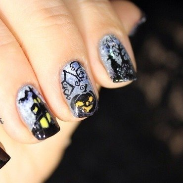 Halloweenails  nail art by Bidibulle