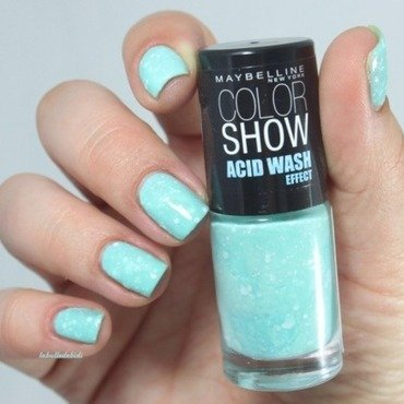 Maybelline Acid Wash Mintacidittude Swatch by Bidibulle
