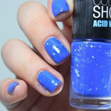 Maybelline Colorshow Bleached Blue Swatch by Bidibulle