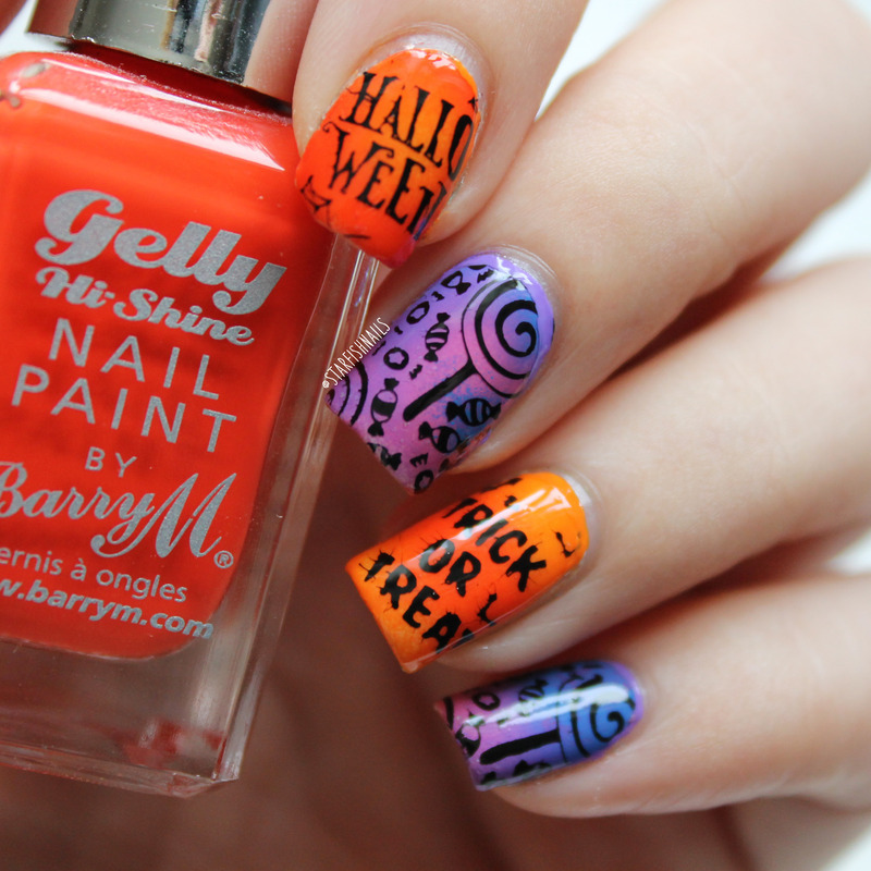 Halloween Candy nail art by Lisa Yabsley