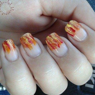 Flames nail art by Barbara P.