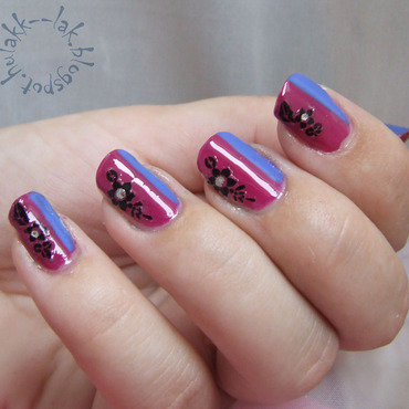 Frozen - Anna nail art by Barbara P.