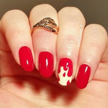 Dripping blood nail art by nailicious_1