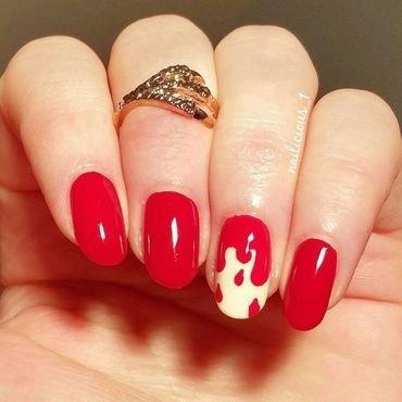 Dripping blood nail art by nailicious_1