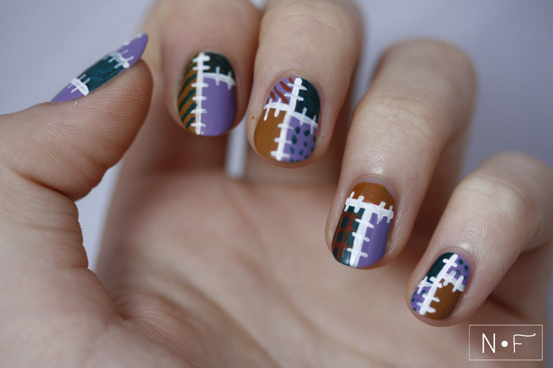 Patchwork nail art by NerdyFleurty