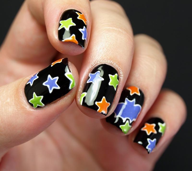 Halloween Night Sky nail art by Emiline Harris - Nailpolis ...