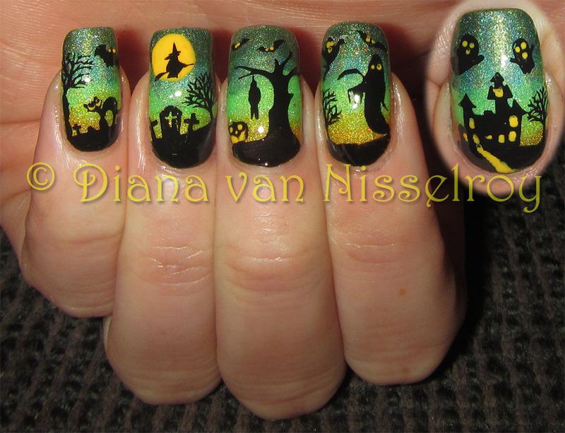 Halloween Scenery 2014 Nail Art By Diana Van Nisselroy Nailpolis