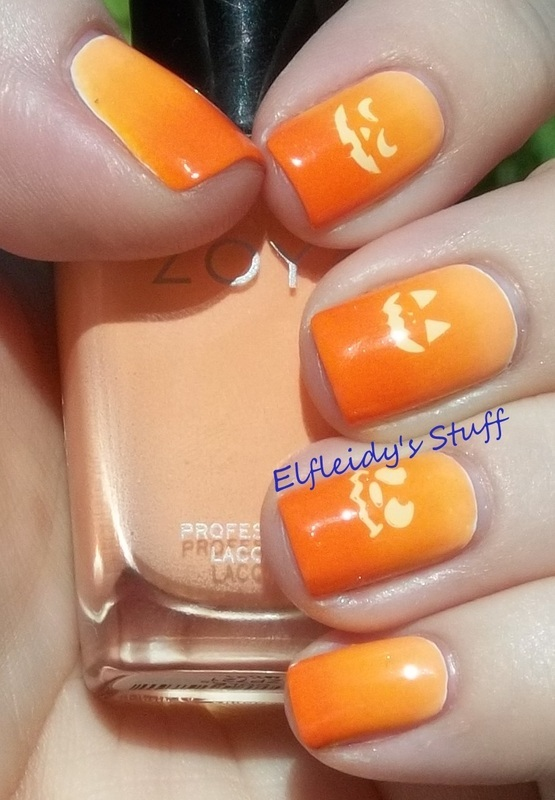 Pumpkin gradient nail art by Jenette Maitland-Tomblin