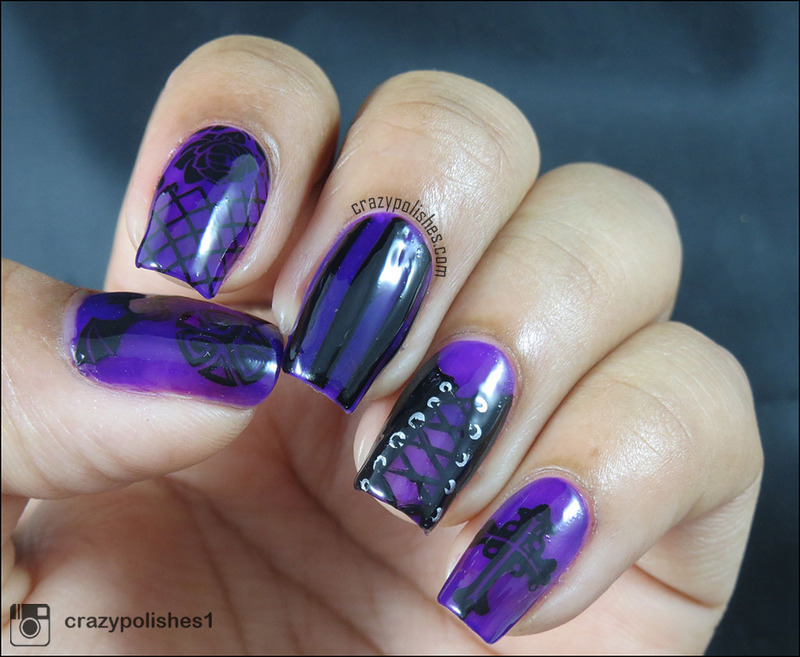 Gothic nail art by CrazyPolishes (Dimpal) - Nailpolis: Museum of ...
