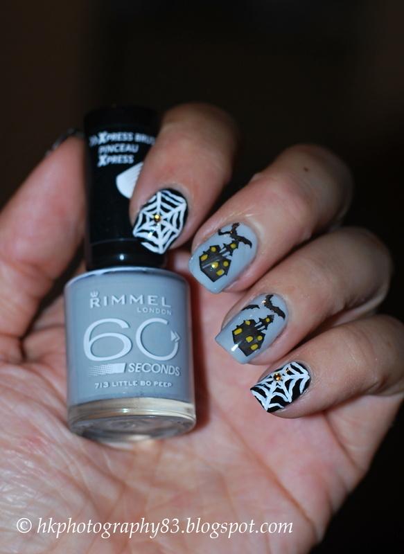 Halloween nail art nail art by Hana K.