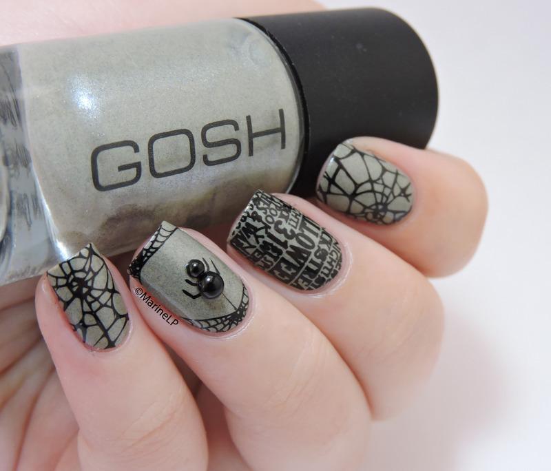Halloween spider nail art by Marine Loves Polish