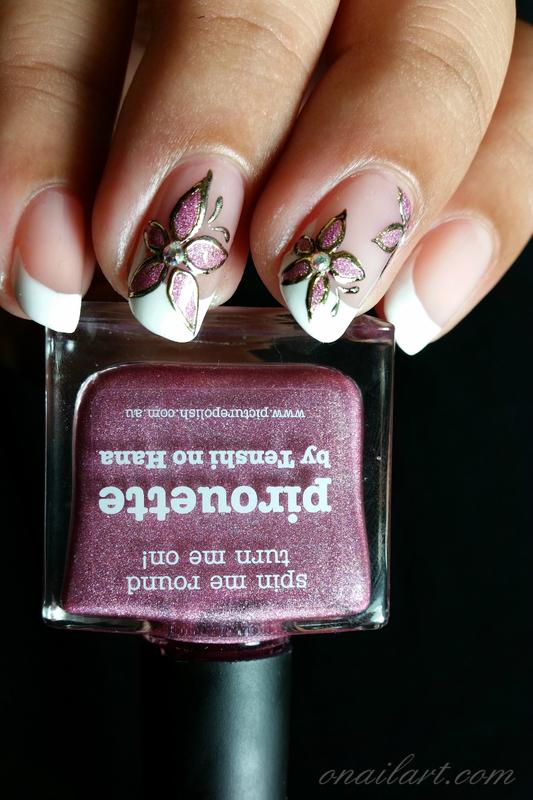 Pirouette Nails nail art by OnailArt