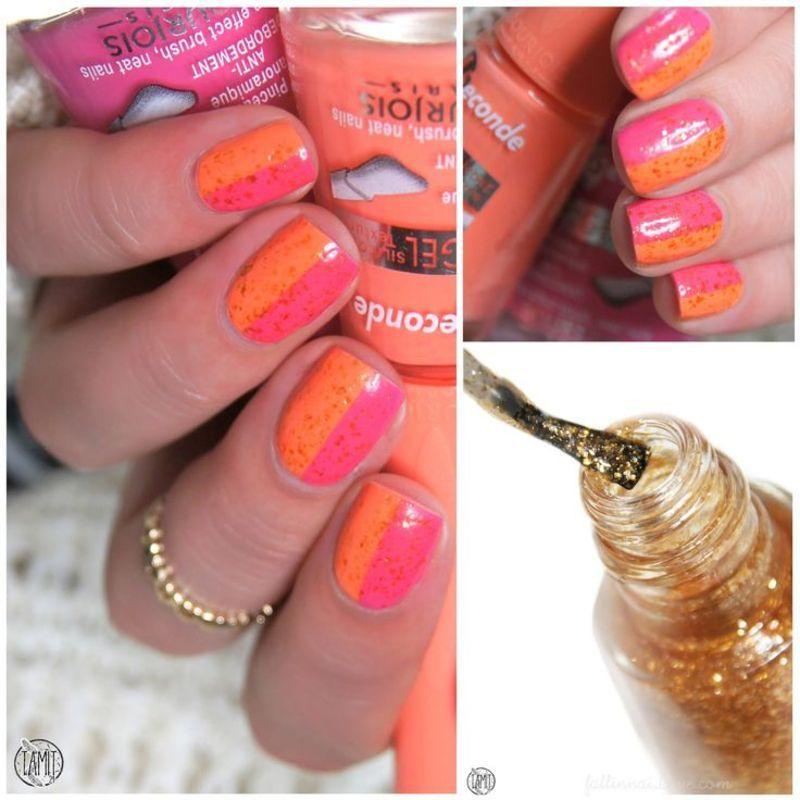 Half and half nails. nail art by Paulina