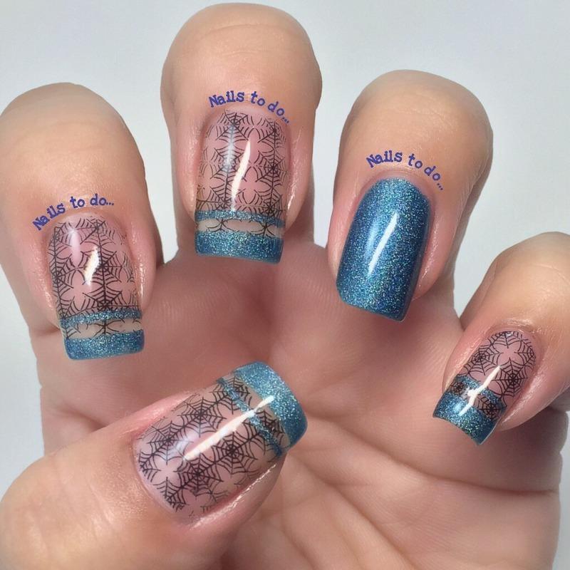 Delicate Halloween  nail art by Jenny Hernandez