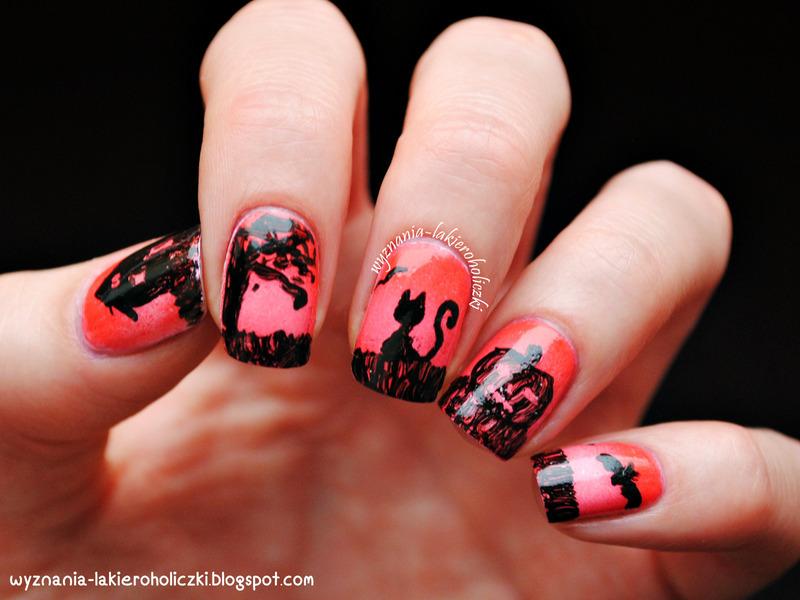 Halloween! nail art by Olaa